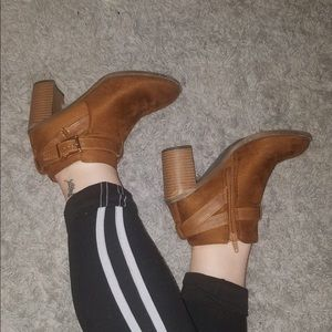 suede brown booties
